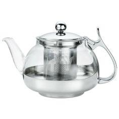 Kuchenprofi Glass Tea Pot w/Stainless Steel Infuser, 3 Cups - http://teacoffeestore.com/kuchenprofi-glass-tea-pot-wstainless-steel-infuser-3-cups/