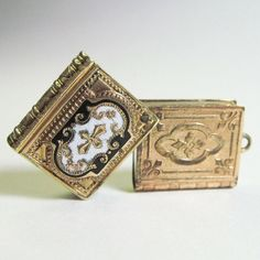 small book antique Victorian locket