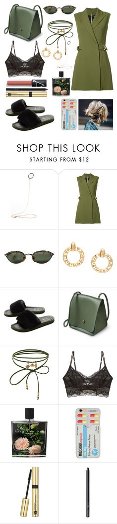"""Lazy to do this one....."" by lina18neko ❤ liked on Polyvore featuring Balmain, Jean-Paul Gaultier, Chanel, Accessorize, Intimately Free People, Nest Fragrances, Moschino, Estée Lauder and NARS Cosmetics"