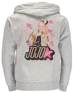 261e5f523 Nickelodeon Big Girls' JoJo Siwa Hoodie Zip Up Sweatshirt. #jojo #jojosiwa #