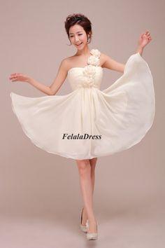 Junior bridesmaid dress  chiffon party dress / by FelalaDress, $85.00