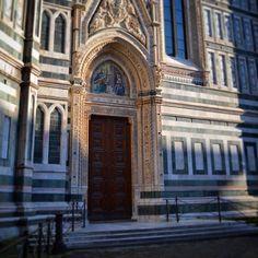 Porta della Mandorla on the Duomo. One of the...