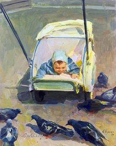 Сорока Аркадий Васильевич (1921-2010) «Любопытный» 1957