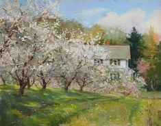Orchard Spring by Connie Kuhnle Pastel ~ 10.5 x 13.5