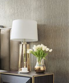 Haus 116 Muriva Couture Wallpaper / Serena Texture Gold / 701457 How An Area Rug Can Make The Perfec Hallway Wallpaper, Bathroom Wallpaper, Vinyl Wallpaper, Gold Wallpaper Bedroom Ideas, Wallpaper Roll, Living Room Wallpaper Accent Wall, Bedroom Wallpaper Texture, Wallpaper Ideas, Silver Textured Wallpaper