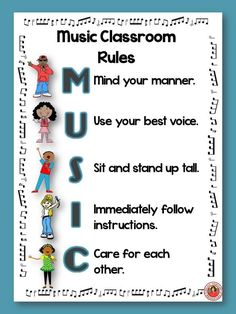 MUSIC: Useful class rules. There are FOUR pages of music class rules: TWO different pages of rules in the PDF file and an EDITABLE version in the PowerPoint! Preschool Music, Music Activities, Teaching Music, Music Math, Fun Music, Classroom Rules, Music Classroom, Classroom Decor, Future Classroom