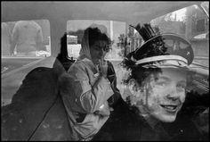 photo: Danny Lyon, Chicago -1965, car window glass reflection photo.