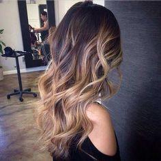 Honey Blonde Highlights on Auburn Hair