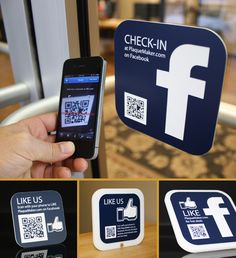 Facebook QR Engraved Signs