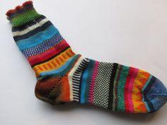 Socken - Bunte Socken hygge Gr. 43/44 - ein Designerstück von Lotta_888 bei DaWanda