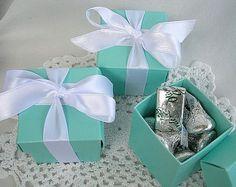 Favor Boxes Tiffany & Co Blue 10 Piece Set by AllThingsAngelas