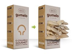 A 12 Euro box where you can grow your own gourmet mushrooms. Cool!
