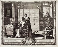 Abraham Bosse (French, 1602–1676). Sight plate 3 from Cinq sens (The Five Senses) c 1635.