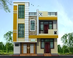 Best 12 at hyderabad House Front Wall Design, House Outer Design, Single Floor House Design, Home Stairs Design, Home Building Design, Bungalow House Design, Duplex House, Front Elevation Designs, House Elevation