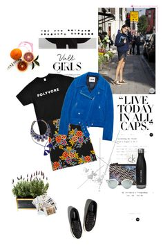 """POLYVORE ON THE GO #ContestOnTheGo #ContestEntry"" by luxecouture ❤ liked on Polyvore featuring COII, Calvin Klein, Pierre Hardy, MSGM, Acne Studios, Christian Dior, Abercrombie & Fitch, PAM and Chronicle Books"