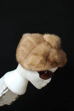 70s Vintage Soft MUSKRAT Fur HAT  luxurious by GrandmaHadItGoinOn, $32.00