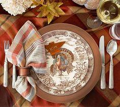 Traditional Turkey Dinner Plate, Set of 4 #potterybarn