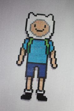 Adventure Time: Finn Perler Beads by StardustExpress