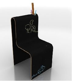 Chaise Le Trait motif la Craie OBO-Design - La Boutique du Design
