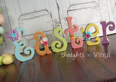 Wooden Easter Crafts | Thoughts in Vinyl