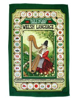 Welsh Tea Towel - Welsh Language I love to read this towel while I dry : ) Learn Welsh, Welsh Words, Welsh Love Spoons, Wales Uk, North Wales, Welsh Language, Welsh Gifts, Saint David's Day, Welsh Rugby