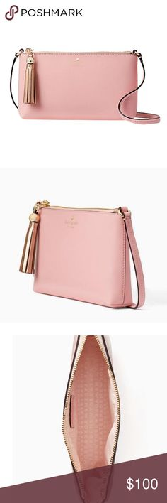 5ed5c67264a0 NWT Kate Spade Amy Ivy Street Cross Body Rosejade Brand new leather Kate  spade bag can be worn as a clutch or cross body. No dust bag or box but  will ...