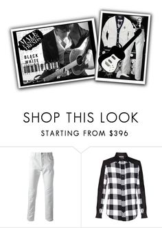 """""""Guitar Player"""" by halebugg ❤ liked on Polyvore featuring CC, Gucci, Odyn Vovk, Polo Ralph Lauren, Ralph Lauren Purple Label, TAXI, music, BlackOrWhite, blackandwhite and menswear"""