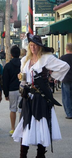 A Pirate Lady on St.George Street, St. Augustine, Florida