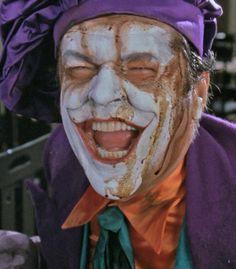 Jack Nicholson as The Joker.