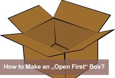 What is an Open First box and what should it contain? This article will give you the tips you need in order to prepare your essentials box.