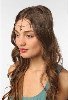 Rhinestone Goddess Chain Headdress by Urban Outfitters