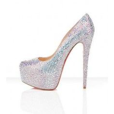 Off 78%. Chrisrian Louboutin Silver Sparkle High ...