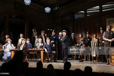 Curtain Call the Opening of Broadway's All-Star 'The Front Page' at the Broadhurst Theatre on October 20, 2016 in New York City.