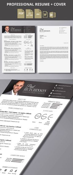 Special offer : resume + cover letter (2 versions) - Because you are worth a smart resume / CV… Take your resume to a whole new level customizing this professional template (1 page - US letter or