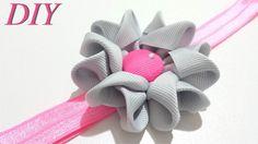 How To Make Hair Bows DIY #94 Ribbon Flower Headband Tutorial