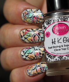 piCture pOlish Totes, Chillax, Flirt and double stamping nail art