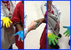 Handshake color mixing .... very interesting idea!