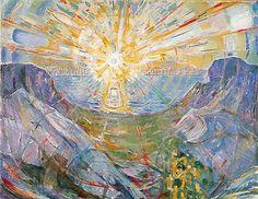 Le Soleil, Edvard Munch, huile sur toile, 1909-1916. © Munch-museet