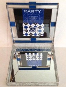 Custom Made Beveled Glass Box Open