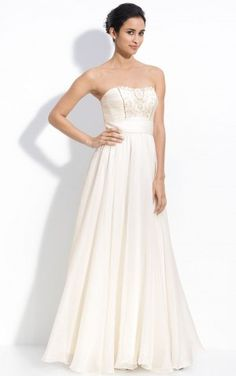 Elegant Ankle-length Sleeveless Chiffon Strapless Princess Party Dresses