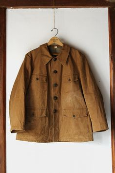 French vintage hunting jacket/1950's/cotton by SASAKIYOHINTEN