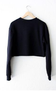 New York 199x Cropped Sweater - Black