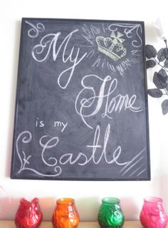 #diy #deco #decor #decoration #chalkboard #chalkboardart