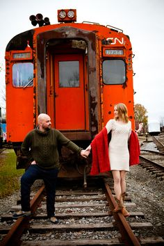 Photo Credit, Trains, Hipster, Engagement, Style, Fashion, Swag, Moda, Stylus