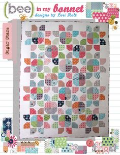 This quilt pattern was especially designed by Lori Holt to use 5 or 10 precut squares. Fabric used is Gracie Girl. This is a fun and easy quilt to