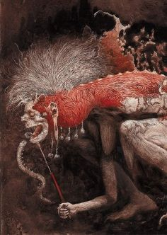 """""""La Condesa Sangrienta ( The Bloody Countess ) by Santiago Caruso, From The Ilustrated Book by Alejandra Pizarnik"""