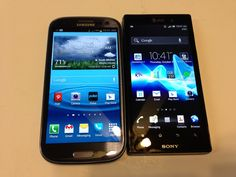 Samsung Galaxy S3 vs. Sony Xperia Ion Android Update 4.04 Review #attmobilereview