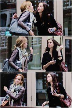 — Emma Watson & Kaya Scodelario #HarryPotter #Potter #HarryPotterForever