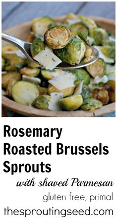 Rosemary Roasted Brussels Sprouts with Parmesan