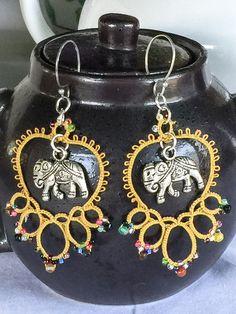 Jewel Encrusted Elephant by TheTattersTale on Etsy
